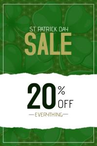 st. Patricks day sale poster