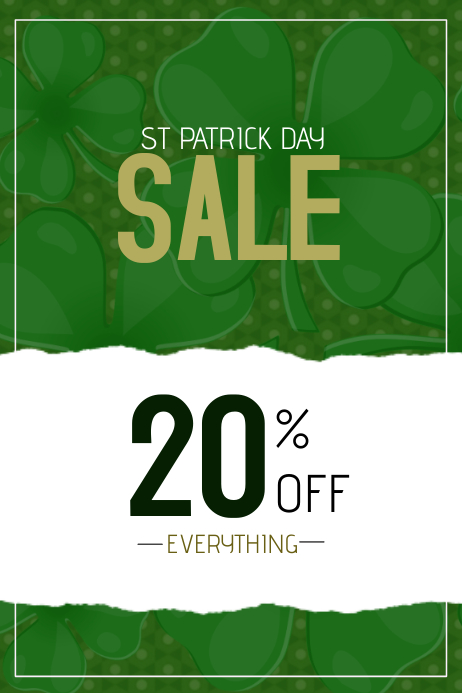st. Patricks day sale poster Plakat template