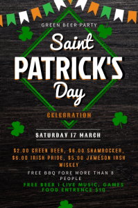 St. Patricks Party poster template