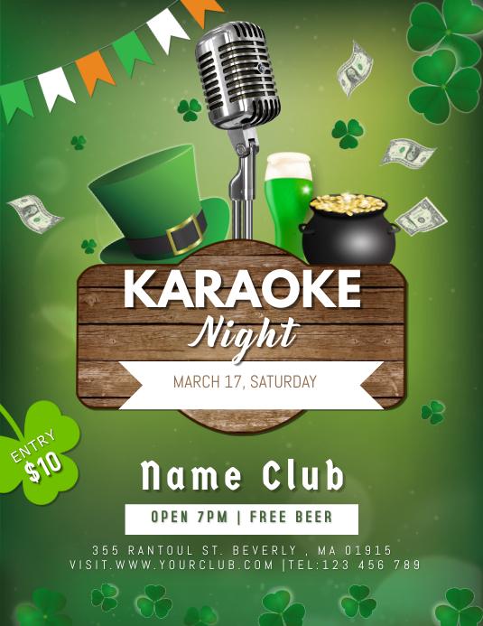 St.Parick's Karaoke Night Flyer