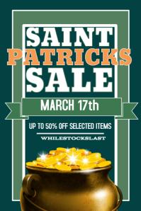 St Partircks Retail Sale Poster Flyer