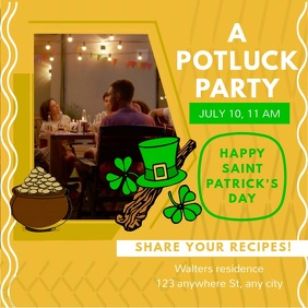 St Patrick's Cafe Potluck Party Square Video