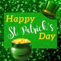 St Patrick's Day, Greetings Сообщение Instagram template
