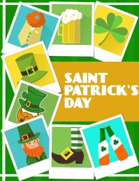 St Patrick's Day, Greetings Ulotka (US Letter) template