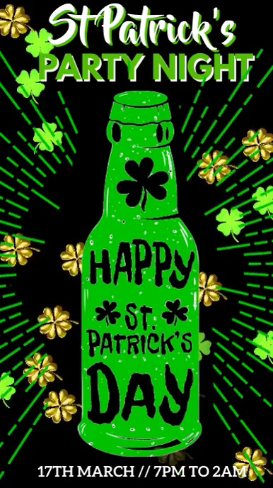 St Patrick's Day Ad Video Template