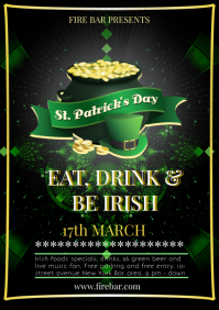 ST PATRICK'S DAY A4 template