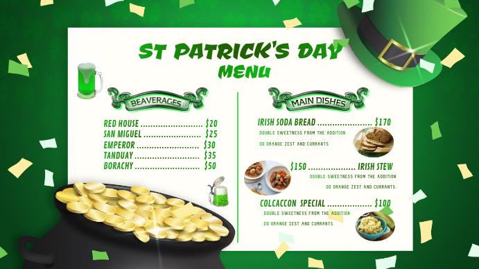 ST PATRICK'S DAY ภาพปก YouTube Channel template