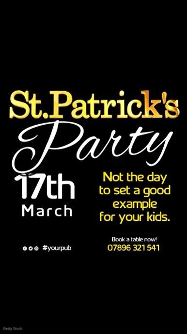 St Patrick's Day Event Instagram