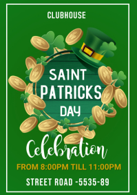 St Patrick's Day flyers A3 template