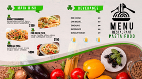 St Patrick's Day Food Menu Board