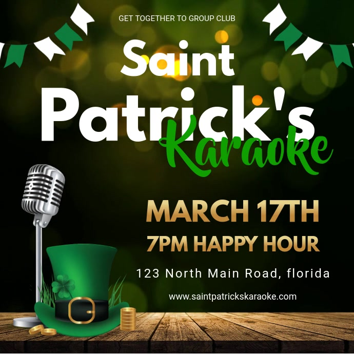 St Patrick's Day Karaoke Night Invitation