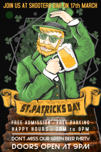 St Patrick's Day Party Event Flyer Poster Template