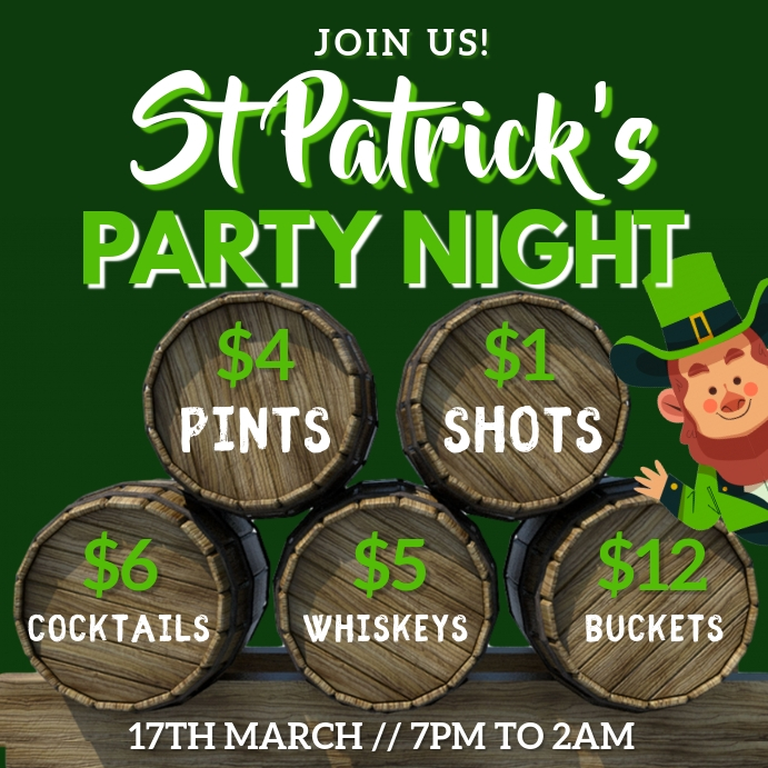 St Patrick's Day Party Event Template