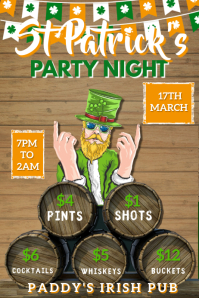 St Patrick's Day Party Poster Template