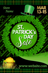 St Patrick's Day Sale Poster template