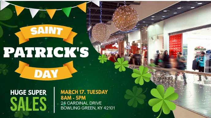 St Patrick's Day Sale Display Ad