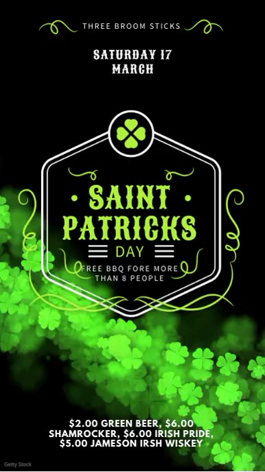 St Patrick's Party Digital Display Ad Affichage numérique (9:16) template