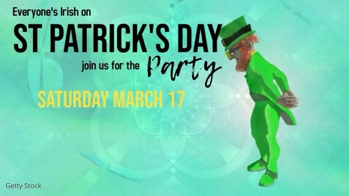 St Patrick's day party Presentación (16:9) template