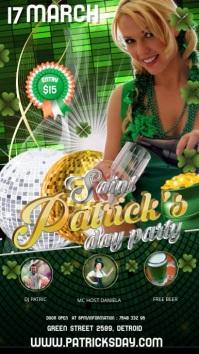 St Patrick's video 2 เรื่องราวบน Instagram template