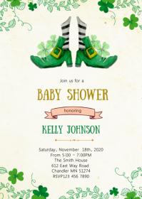 St Patrick baby shower invitation