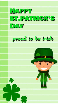 st patrick day Pantalla Digital (9:16) template