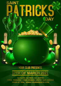 ST PATRICK DAY A4 template