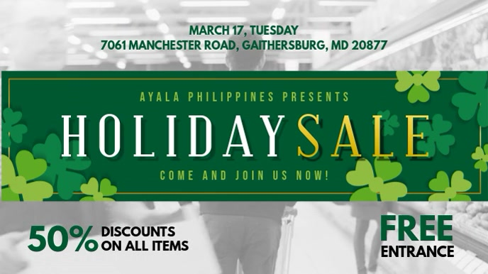 St Patrick Holiday Sale Display