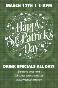 St Patrick's Day poster/flyer template