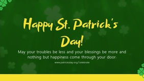 St Patrick's Day Facebook Cover Video Template