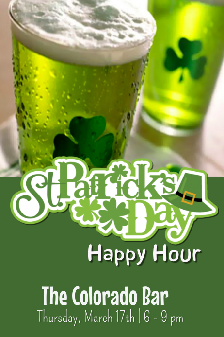 St Patrick's Day Happy Hour