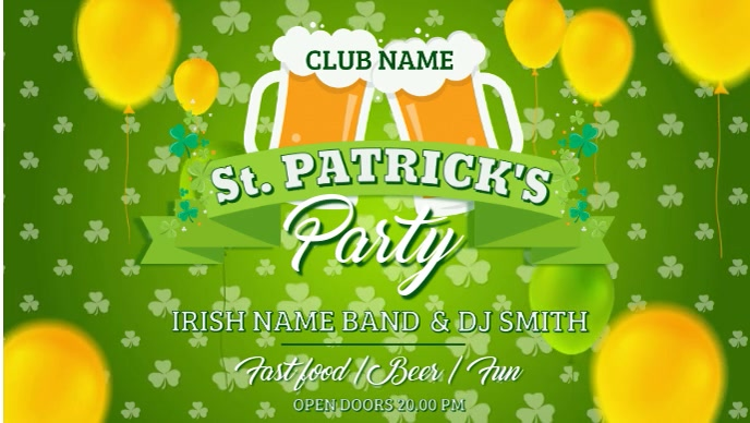 St Patricks Music Party Video Template