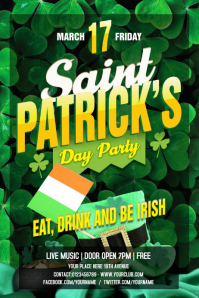 st patrick's party banner