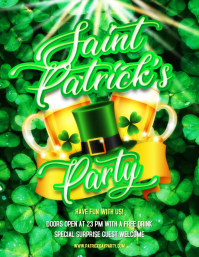 st patrick's party Flyer