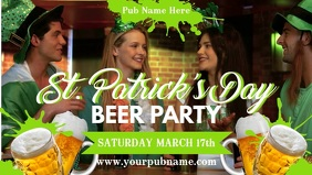 St Patrick's Party Video Template วิดีโอหน้าปก Facebook (16:9)