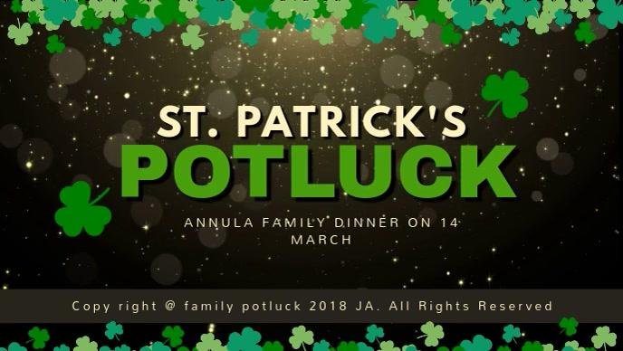 El Plantilla de Video de Portada de St Patrick | PosterMyWall