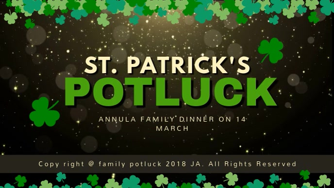 St Patrick's Potluck Cover Video Template