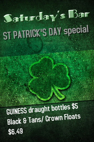 St Patrick\'s Day Bar Poster Template