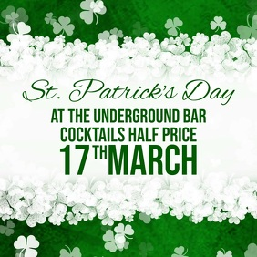 St Patricks day Bar Advert