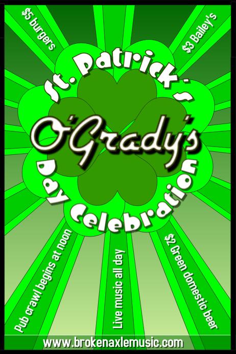 St Patricks's Day Bar Flyer