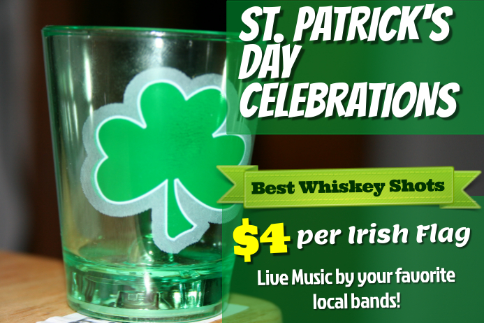 St. Patrick's Day Bar Flyer Template