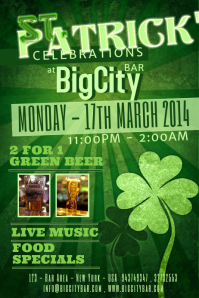 St.Patrick's Day Event Flyer Template Poster