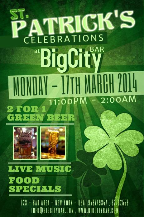 St.Patrick's Day Event Flyer Template Cartaz