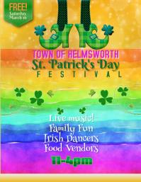 St Patricks Day Family Festival Flyer Template