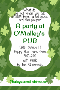 Saint Patrick's Day flyer event poster