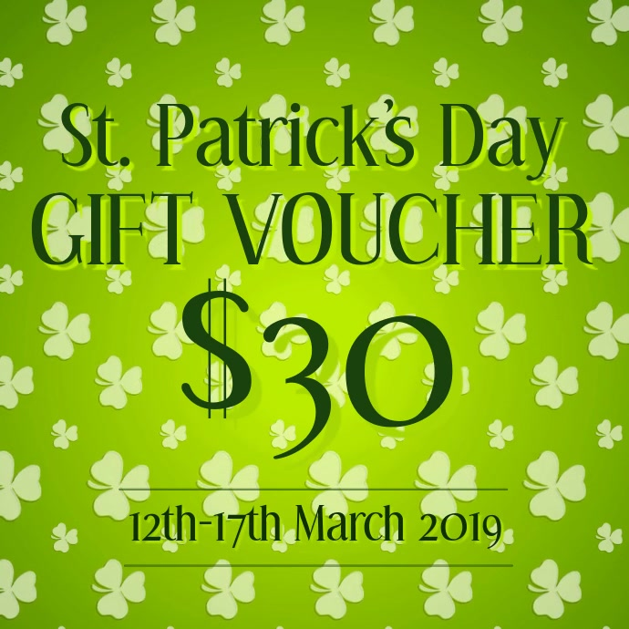 St Patricks day gift voucher