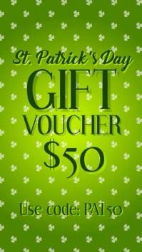 St Patricks day gift voucher