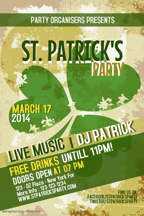 St Patricks Day Party Flyer Template