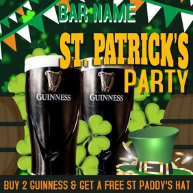 St Patricks Day Party Instagram Template