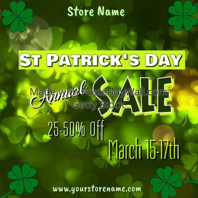Plantilla de Video de St Patricks Day | PosterMyWall