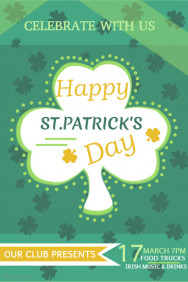 st patricks day templates,Event poster templates